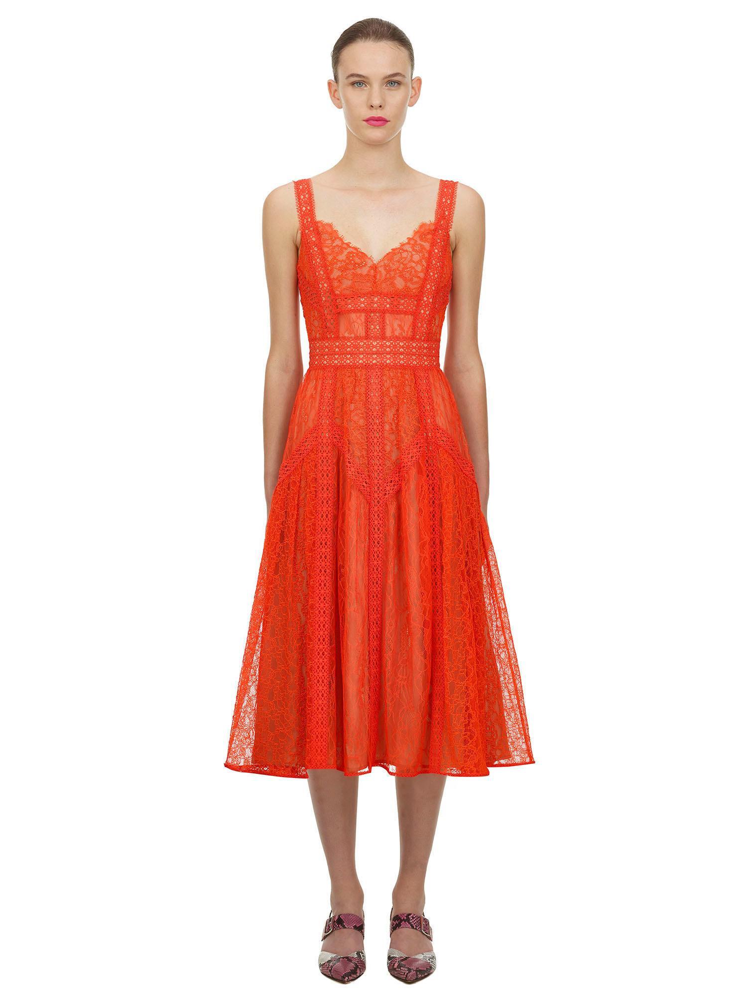 Orange dress  Self Portrait  Hverdagskjoler - Dameklær er billig